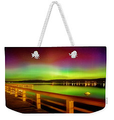 Northern Lights Over Okanagan Lake Canada Weekender Tote Bag