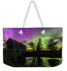 Northern Lights Reflection Weekender Tote Bag
