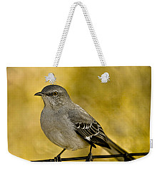 Northern Mockingbird Weekender Tote Bag by Chris Lord