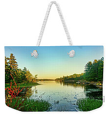 Northern Ontario Lake Weekender Tote Bag