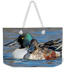 Northern Shoveler Pair Close-up Weekender Tote Bag