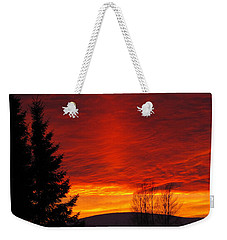 Northern Sunset Weekender Tote Bag