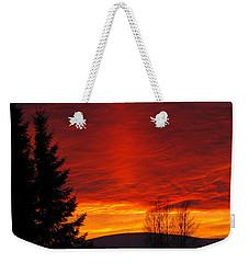 Northern Sunset Weekender Tote Bag