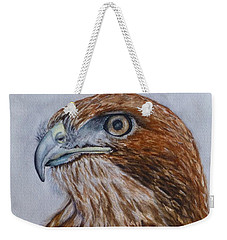 Weekender Tote Bag featuring the painting Northern Red Tailed Hawk by Kelly Mills