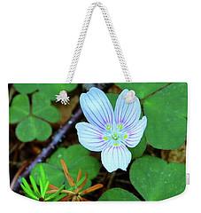 Northern Wood Sorrel Weekender Tote Bag