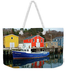 Northwest Harbour, Nova Scotia, Canada In Winter Weekender Tote Bag