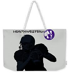 Northwestern Football Weekender Tote Bag by David Dehner