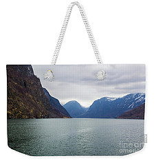 Weekender Tote Bag featuring the photograph Norwegian Fjords by Suzanne Luft
