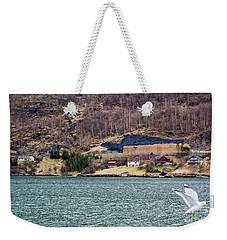 Norwegian Village Weekender Tote Bag by Suzanne Luft