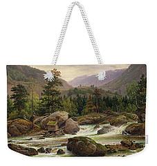 Norwegian Waterfall Weekender Tote Bag by Thomas Fearnley