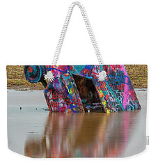 Weekender Tote Bag featuring the photograph Nose Dive by Stephen Stookey