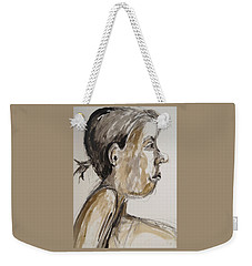 Weekender Tote Bag featuring the painting Nose Job Nose by Esther Newman-Cohen