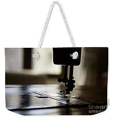 Weekender Tote Bag featuring the photograph Nostalgia ..sewing Machine Silhouette by Lynn England