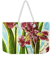 Nostalgic Irises Weekender Tote Bag