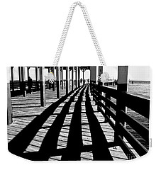 Nostalgic Walk On The Pier Weekender Tote Bag by Carol F Austin