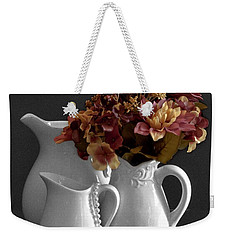 Weekender Tote Bag featuring the photograph Not All Is Black And White by Sherry Hallemeier