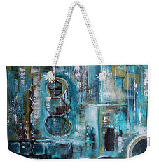Weekender Tote Bag featuring the painting Not Alone by Jocelyn Friis