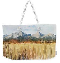 Weekender Tote Bag featuring the painting Not Far Away by Ivana Westin