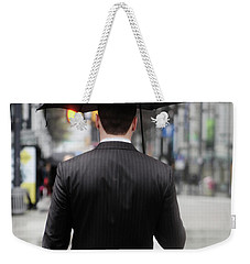 Weekender Tote Bag featuring the photograph Not Me  by Empty Wall