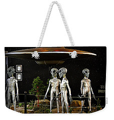 Weekender Tote Bag featuring the photograph Not Of This Earth by AJ Schibig