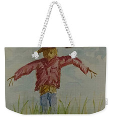 Weekender Tote Bag featuring the painting Not So Scary by Stacy C Bottoms