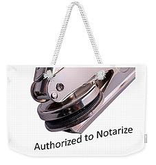 Notary Public Slogan Weekender Tote Bag