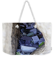Notes In The Wailing Wall  Weekender Tote Bag by Yoel Koskas