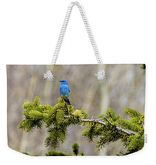Notice The Pretty Bluebird Weekender Tote Bag by Yeates Photography