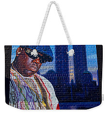 Notorious B.i.g. Weekender Tote Bag by  Newwwman