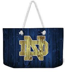 Notre Dame Barn Door Weekender Tote Bag by Dan Sproul