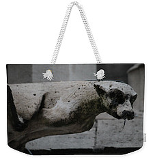 Weekender Tote Bag featuring the photograph Notre Dame Bat Gargoyle by Christopher Kirby