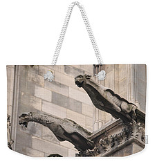 Weekender Tote Bag featuring the photograph Notre Dame Cathedral Gargoyles by Christopher Kirby