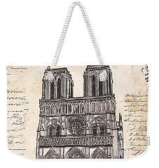 Notre Dame De Paris Weekender Tote Bag by Debbie DeWitt