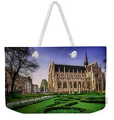 Weekender Tote Bag featuring the photograph Notre Dame Du Sablon In Brussels  by Carol Japp