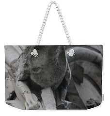Weekender Tote Bag featuring the photograph Notre Dame Gargoyle Grotesque by Christopher Kirby