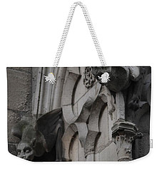 Weekender Tote Bag featuring the photograph Notre Dame Grotesques by Christopher Kirby