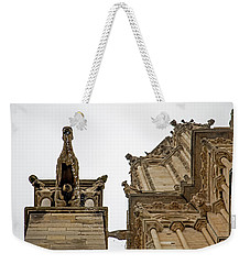 Notre Dame In The Rain Weekender Tote Bag by Jean Haynes