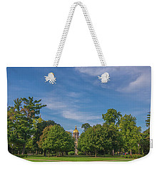 Notre Dame University 6 Weekender Tote Bag by David Haskett