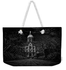 Notre Dame University Golden Dome Bw Weekender Tote Bag by David Haskett
