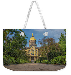 Notre Dame University Q Weekender Tote Bag by David Haskett
