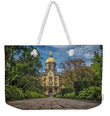 Notre Dame University Q1 Weekender Tote Bag by David Haskett