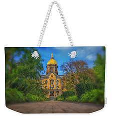Notre Dame University Q2 Weekender Tote Bag by David Haskett