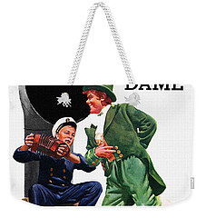 Notre Dame V Navy 1954 Vintage Program Weekender Tote Bag