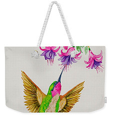 Weekender Tote Bag featuring the painting Nourishment  by Katherine Young-Beck