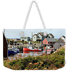 Weekender Tote Bag featuring the photograph Nova Scotia Fishing Community by Jerry Battle