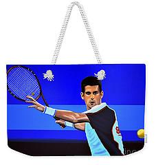 Novak Djokovic Weekender Tote Bag by Paul Meijering