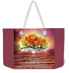 November Birthstone Citrine Weekender Tote Bag