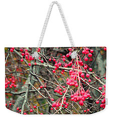 November Crabapples Weekender Tote Bag