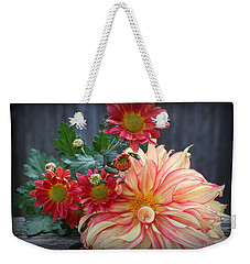 November  Flowers - Still Life Weekender Tote Bag by Dora Sofia Caputo Photographic Art and Design