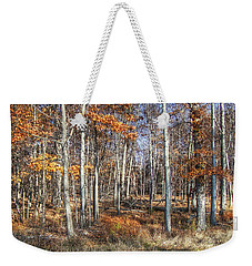 Weekender Tote Bag featuring the photograph November Forest by Betsy Zimmerli